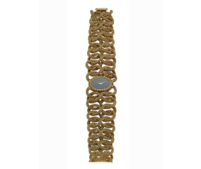 Montre Piaget, bracelet en maille d'or et cadran en jade, vers 1969. Estimation: 13 000-16 000 euros.