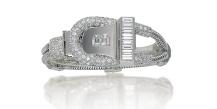 Montre-bracelet Art Déco de Boucheron en or blanc et diamants, vers 1936. Estimation: 17 000-24 000 euros.